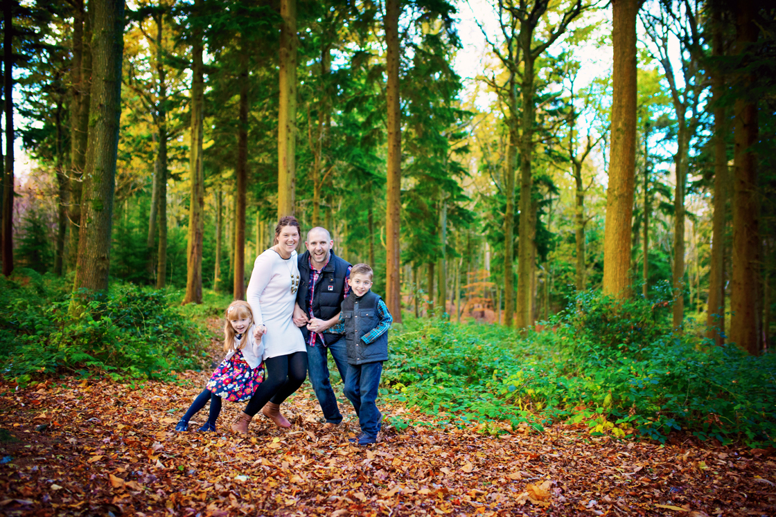 Family In Forest Photo